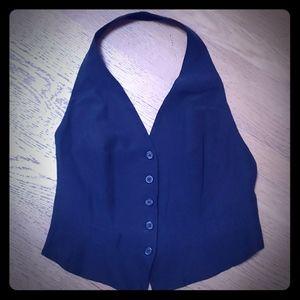 DKNY Silk black halter top